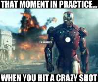 Crazy, Nba, and Moment: THAT MOMENT IN PRACTICE.  ONBAMEMES  WHEN YOU HIT A CRAZY SHOT Get buckets. #Uncle Drew