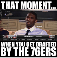 Would probably be the worst day of your life😂😂 you be like confused and angry😡😣 double tap for more and tag friends who need to see this🔥😂🏀 nba nbamemes: THAT MOMENT  @NBAMEMES  NEXT  PICK ISIN  ORL  Joel Embiid C Kansas  UTAH  RD1 3 TPHIT  RPHIPick  EST ir G 28. CLIPPERS  29. THUNDER  30. SPURS  ROUND 2 31. BUCKS  32. 76ers  3  WHEN YOU GET DRAFTED  BY THE 76ERS Would probably be the worst day of your life😂😂 you be like confused and angry😡😣 double tap for more and tag friends who need to see this🔥😂🏀 nba nbamemes