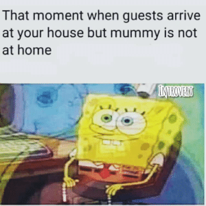 Mom? Where are you?: That moment when guests arrive  at your house but mummy is not  at home  INTROVERT Mom? Where are you?