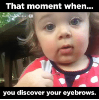 that moment when: That moment when...  Marta S  you discover your eyebrows.