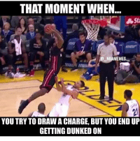 Poor steph.... nflmemes sports sportsmemes memes nbamemes nba nfl mlb mlbmemes: THAT MOMENT WHEN  NBAMEMES  YOU TRY TO DRAWACHARGE, BUT YOU END UP  GETTING DUNKED ON Poor steph.... nflmemes sports sportsmemes memes nbamemes nba nfl mlb mlbmemes