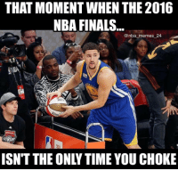 Klay lost in the first round! What are your thoughts on the Dunk Contest? 🤔 nbamemes nba_memes_24: THAT MOMENT WHEN THE 2016  NBA FINALS.  @nba-memes-24  RY  A1RDAY  ISNT THE ONLY TIME YOU CHOKE Klay lost in the first round! What are your thoughts on the Dunk Contest? 🤔 nbamemes nba_memes_24