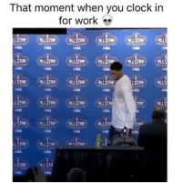 Clock, Funny, and Email: That moment when you clock in  for work  ALLSTAR (ALU  LSTAR 90% of yall this morning.. funniest15 funniest15seconds viralcypher Email: funniest15seconds@yahoo.com Website : www.viralcypher.com