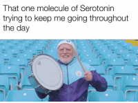 Memes, 🤖, and Serotonin: That one molecule of Serotonin  trying to keep me going throughout  the day Credit: Ezequiel Jimenez