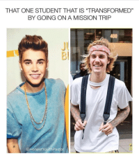 "Memes, Good, and Christian Memes: THAT ONE STUDENT THAT IS ""TRANSFORMED""  BY GOING ON A MISSION TRIFP  400  JU  Bl  @HonestYouthPastor 17 Christian Memes This Week That Will Give You a Good Laugh!"