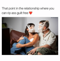 The true test of love ❤️: That point in the relationship where you  can rip ass guilt free  @comfysweaters The true test of love ❤️