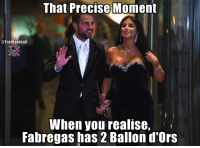 Memes, 🤖, and Pitch: That Precise Moment  @TrollFoothall  When you realise,  Fabregas has 2 Ballon d'Ors Fabregas wins on and off the pitch 😁 https://t.co/W4QDQ8BTAq