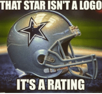 Just saying....  Sports Memes: THAT STAR ISN'T A LOGO  IT'S A RATING Just saying....  Sports Memes