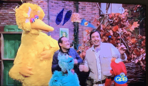 That time Sweet Dee hosted Sesame Street with Jimmy Fallon.: That time Sweet Dee hosted Sesame Street with Jimmy Fallon.