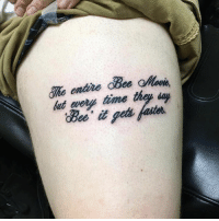 absolute mad man, not even I could do this and I made a bee movie meme page lmao. Bee Movie Memes Done by Gavin Meeker at Kill Em All Tattoo facebook.com/killemalltattoo/: That  time thay day absolute mad man, not even I could do this and I made a bee movie meme page lmao. Bee Movie Memes Done by Gavin Meeker at Kill Em All Tattoo facebook.com/killemalltattoo/