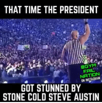 This was probably the defining moment which set Donald J. Trump to become the President.: THAT TIME THE PRESIDENT  FAIL  INSTAGRAM  ON GOT STUNNED BY  STONE COLD STEVE AUSTIN This was probably the defining moment which set Donald J. Trump to become the President.