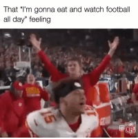 "Football, Memes, and Watch: That ""Tm gonna eat and watch football  all day"" feeling Yes. Yes! YES! 🦃🏈🦃 https://t.co/Ph1rz1aX9z"
