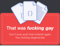 """<p>Discord memes untapped goldmine, invest now via /r/MemeEconomy <a href=""""http://ift.tt/2gcYHPY"""">http://ift.tt/2gcYHPY</a></p>: That was fucking gay  Don't ever post that bullshit again  You fucking degenerate <p>Discord memes untapped goldmine, invest now via /r/MemeEconomy <a href=""""http://ift.tt/2gcYHPY"""">http://ift.tt/2gcYHPY</a></p>"""