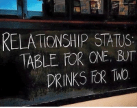 Relationship Statuses: ThatBender  RELATIONSHIP STATUS  ABLE OR ONE BUT  DRINKS FOR WO