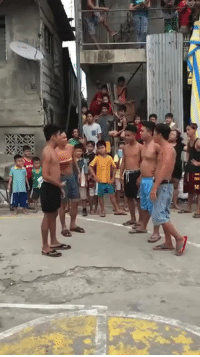 Children, Friends, and Love: thatfilipinagurl: veryfemmeandantifascist:  nvclearbomb:  smatter:  bellygangstaboo:     That left leg tho     Who is this queen and the full group of supportive friends   Wholesomeness of this video is radiating warmth onto my face  I can't stop smiling I love how all the children are cheering  For those asking. He's name is Sinon Loresca, he's from the Philippines. He's in a noontime show called eat bulaga. He's also really really nice. :)
