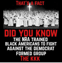 Kkk, Black, and Fight: THAT'S A FACT  DID YOU KNOW  THE NRA TRAINED  BLACK AMERICANS TO FIGHT  AGAINST THE DEMOCRAT  FORMED GROUP  THE KKK