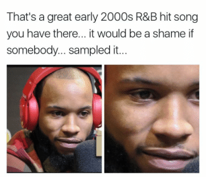 Blackpeopletwitter, Funny, and Lmao: That's a great early 2000s R&B hit song  you have there... it would be a shame if  somebody... sampled it. This man Tory need to in his Lanez #meme #funny #blackpeopletwitter #lmao
