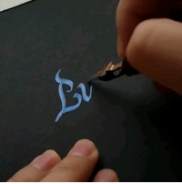 9gag, Memes, and Nice: That's a nice calligraphy you got there, it'd be a shame if someone ruined it 😺Follow @9gageyegasm - 📹 @watering76 - 9gag calligraphy lettering