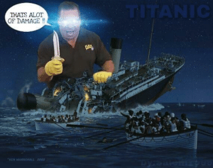 Ken, Titanic, and The Titanic: THATS ALOT  OF DAMAGE!!  KEN MARSCHALL 2002 Sinking of the Titanic (1912)