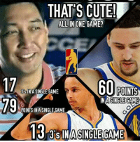 THAT'S CUTE  ctto  RJTCrisostmo: THATS CUTE  ALL IN ONE GAME?  17  60  POINTS  IN A SINGLE GAME  INA SINGLEGAME  POINTS IN A SINGLE GAME  13 INASINGLEGAME THAT'S CUTE  ctto  RJTCrisostmo