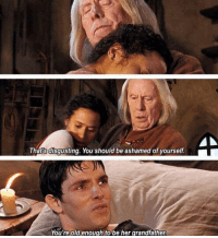 😂😂  GO #Merlin: Thats disgusting. You should be ashamed of yourself.  You're old enough to be her grandfather 😂😂  GO #Merlin