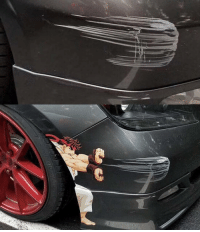 9gag, Anime, and Memes: That's how you deal with car scratches car anime dealwithit 9gag