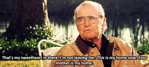 https://iglovequotes.net/: That's my sweetheart inthere.I'm notleavingher This is myhome now,Your  mother is my home. https://iglovequotes.net/