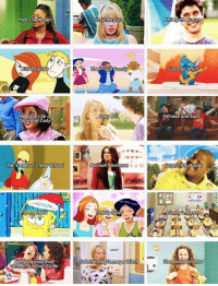 Drake, Future, and Kim Possible: That's SORaven  Kim Possible  The Suite Life  Zack and Cody  The Emperor's New School  Spongebob  School Survival Guide  Lizzie Mcguire  The Proud  Zoey 101  Hannah Montan  Totally Spies  LERARY  Sabrina the Teenage Watch  Phil the Future  Lilo and Sfitch  Drake and Josh  Cany the, House  The Amanda Show My childhood 🙌