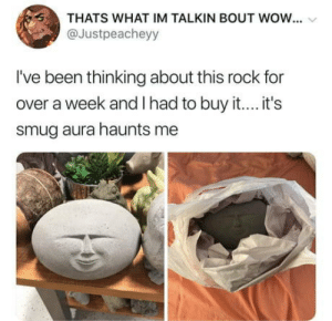Wow, Been, and Rock: THATS WHAT IM TALKIN BOUT WOW...  @Justpeacheyy  I've been thinking about this rock for  over a week and I had to buy it.... it's  smug aura haunts me Its smug aura haunts me.