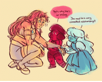Target, Tumblr, and Blog: That's why shes  so strong  ...  Jou must be a ver  committad relationsnip!!  27 becomedog:  becomeartist:  easy misunderstanding!!   low quality sequel drawing