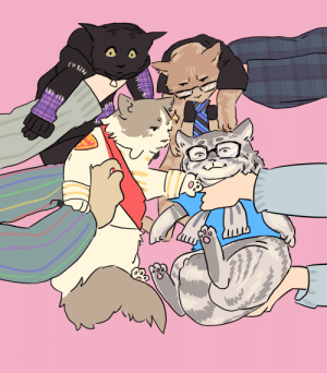 thatsthat24:  novaedream: draw the squad fromthat cat photo Keep reading  Omg art that I never knew I needed: thatsthat24:  novaedream: draw the squad fromthat cat photo Keep reading  Omg art that I never knew I needed