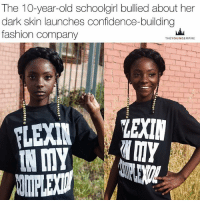 "Yasss! You go, Kheris! ❤️🙌🏾 ""A 10-YEAR-OLD girl bullied about her dark skin has created a fashion line in hopes of instilling confidence in other young girls facing the same. . Kheris Rodgers announced the launch of Flexin In My Complexion on social media yesterday (April 27), writing: ""I am now a 10 year old business owner please support! FlexinInMyComplexion.com."" . Kheris was constantly teased about her skin tone at school. . Kheris told BuzzFeed News that during an exercise years ago in grade school her teacher asked students to draw themselves, then handed her a black crayon. ""I'm not that dark... I'm brown,"" she replied. . Taylor and her mom were feeling helpless. But after a fateful Wiz-inspired fashion show, and a subsequent tweet that went viral, things started to slowly change. . Via BuzzFeed & @theyoungempire_: The 10-year-old schoolgirl bullied about her  dark skin launches confidence-building  fashion company  THEYOUNGEMPIRE  LEXIN  IN MY Yasss! You go, Kheris! ❤️🙌🏾 ""A 10-YEAR-OLD girl bullied about her dark skin has created a fashion line in hopes of instilling confidence in other young girls facing the same. . Kheris Rodgers announced the launch of Flexin In My Complexion on social media yesterday (April 27), writing: ""I am now a 10 year old business owner please support! FlexinInMyComplexion.com."" . Kheris was constantly teased about her skin tone at school. . Kheris told BuzzFeed News that during an exercise years ago in grade school her teacher asked students to draw themselves, then handed her a black crayon. ""I'm not that dark... I'm brown,"" she replied. . Taylor and her mom were feeling helpless. But after a fateful Wiz-inspired fashion show, and a subsequent tweet that went viral, things started to slowly change. . Via BuzzFeed & @theyoungempire_"