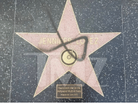 JLo, Memes, and Star: The 2,500th star on the  Hollywood Walk of Famo  Presented June 2013 Nooooo! First Trump and now JLo? Her star on the Hollywood Walk of Fame caught the attention of a vandal. 😱 tmz hollywood jlo jenniferlopez star trump