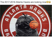 Savage meme of the day. @2nbamemes Tags: Hawks NBA Trash ?: The 2017-2018 Atlanta Hawks are looking nice  NBAMEMES  SPALDING Savage meme of the day. @2nbamemes Tags: Hawks NBA Trash ?
