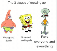 Dumb, Growing Up, and Instagram: The 3 stages of growing up  Fuck  everyone and  everything  Young and  dumb  Motivated  and hopeful Follow me on Instagram: @nathanielknows
