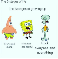 In between spongebob and squidward spongebob life dontownme success thousanddollarsmoke random bossup lifesabitch smart different trapmusic tupac aaliyah 90's: The 3 stages of life  The 3 stages of growing up  Fuck  Young and  Motivated  and hopeful  everyone and  dumb  everything In between spongebob and squidward spongebob life dontownme success thousanddollarsmoke random bossup lifesabitch smart different trapmusic tupac aaliyah 90's
