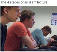 Slumber, The, and Lecture: The 4 stages of an 8 am lecture Slouching towards slumber