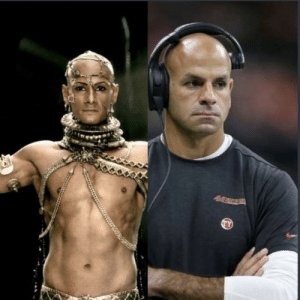 The 49ers Defensive Coordinator looking like Xerxes the prince of Persia from 300.: The 49ers Defensive Coordinator looking like Xerxes the prince of Persia from 300.