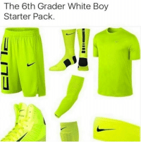 Memes, 🤖, and Starter: The 6th Grader White Boy  Starter Pack