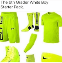 Memes, White, and Starter Pack: The 6th Grader White Boy  Starter Pack