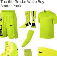 White, Starter Pack, and Boy: The 6th Grader White Boy  Starter Pack.