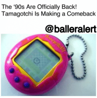 "America, Crazy, and Fila: The '90s Are Officially Back!  Tamagotchi ls Making a Comeback  @balleralert The '90s Are Officially Back! Tamagotchi Is Making a Comeback - blogged by @miss_binky ⠀⠀⠀⠀⠀⠀⠀ ⠀⠀⠀⠀⠀⠀⠀ Look around. Everywhere you go, it's pretty obvious – the 90s are back and in full effect. So for a generation that's re-embracing Tommy Hilfiger, FILA, and Super Nintendo, it shouldn't come as a surprise to hear that the Tamagotchi is making a comeback too. ⠀⠀⠀⠀⠀⠀⠀ ⠀⠀⠀⠀⠀⠀⠀ That's right, the Japanese ""virtual pet"" will hit store shelves again in November (just in time for the holidays). Originally released in 1997, the toy had millions of kids addicted to feeding and cleaning up the poop of a pixelated ""pet,"" and drove parents and teachers alike crazy. ⠀⠀⠀⠀⠀⠀⠀ ⠀⠀⠀⠀⠀⠀⠀ Surprisingly, the re-release of the Tamagotchi will not have any real tech upgrades. The only difference between the 2017 and 1997 version is that it will be about 20% smaller. Bandai America, the company behind the toy, is banking on the love of nostalgia to fuel sales of the virtual pet. ⠀⠀⠀⠀⠀⠀⠀ ⠀⠀⠀⠀⠀⠀⠀ According to marketing director, Tara Badie: ""For many Generation X kids, the Tamagotchi device can be considered America's first and favorite digital pet. The enduring power of Tamagotchi is its clear expression that nurturing and love never goes out of style."" ⠀⠀⠀⠀⠀⠀⠀ ⠀⠀⠀⠀⠀⠀⠀ So the question is, will kids raised on smartphones and iPads see the allure in a colorless, pixelated blob the same we we did in the 90s?"