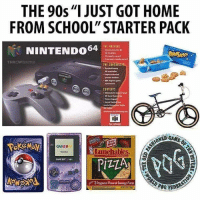 "Too accurate! 😂💯: THE 90s""I JUST GOT HOME  FROM SCHOOL"" STARTER PACK  THE NRCHIE  NINTENDO64  NINTENDONM  precise matien  CONTENTS  30 Mand  申  ONED  GAMEBOY  lunchables  3 Pepperoni Plaored Sausage Pizzas Too accurate! 😂💯"