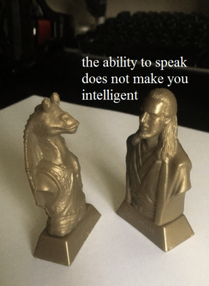 Meme, Star Wars, and Star: the ability to speak  does not make vou When my friend tells me you cannot make a prequel meme with statuettes from select packs of Kelloggs cereal during the original 1999 release of Star Wars: The Phantom Menace
