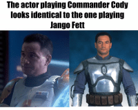 Star Wars, Who, and One: The actor playing Commander Cody  looks identical to the one playing  Jango Fett Who could've guessed?