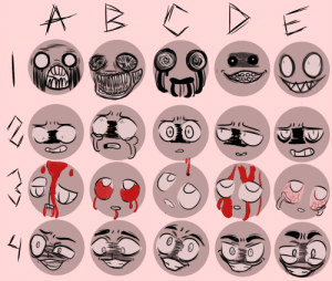 Meme, Tumblr, and Blog: the-adorable-lua: idk how i was able to do this, but here it is, the most creppy expression meme ive ever seen… send me a number+character for me to draw! :3