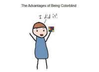 i did it: The Advantages of Being Colorblind  I did it