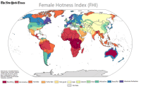 """4chan, Ass, and Bad: The Aeiwllork Times  Female Hotness Index (FHI)  Data Sources: Ancedotal Evidence,  Vacation Trips, /int/ Posts, Hotness  of First Lady, US Census, World  Bank, United Nations, Office of  Data and Statistics of the Russian  Federation, and ESPN.  