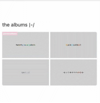 the albums I-/  @annnnathema  twenty lone pilots  vessel  REGIONAL ATBEST I ended up falling asleep again whoops