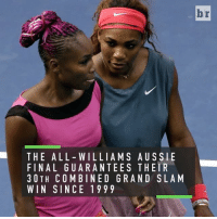 Sports, 2000s, and The All: THE ALL WILLIAMS AUSSIE  FINAL GUARANTEES THEIR  3 OTH COMBINED GRAND SLAM  WIN SIN CE 1999  br Dominance is an understatement. The Williams sisters have owned the 2000s and are still going 🎾